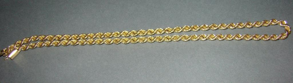 14k Gold Rope Necklace 22""
