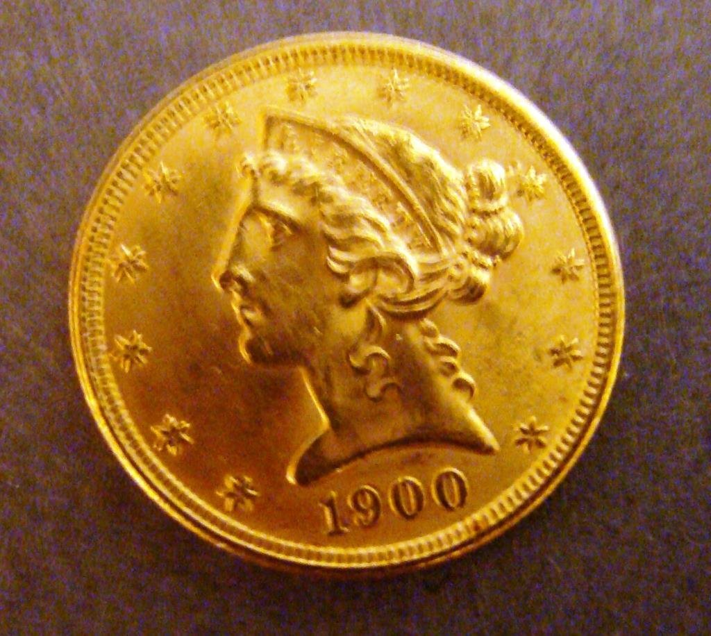 1900 $5 Dollar  Liberty Gold  Coin