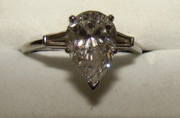 2 Carat Platinum Diamond Ring and Finger Mate - 3