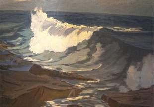 Oil on Canvas Seascape, Attb. Charles Woodberry