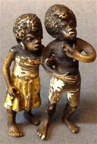 Vienna Bronze of Two Little Boys
