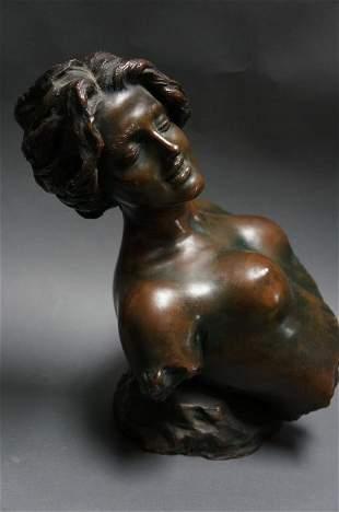 """Bronze Sculpture """"Ecstasy"""" Renda"""