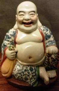Famille Rose Buddha Figure