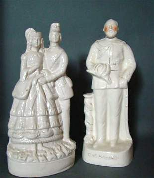 Lot of 2 Antique Staffordshire Figures