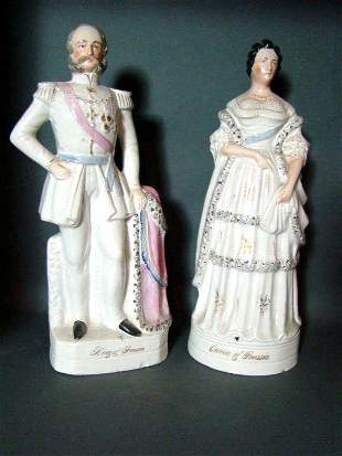 Antique Staffordshire King /Queen of Prussia