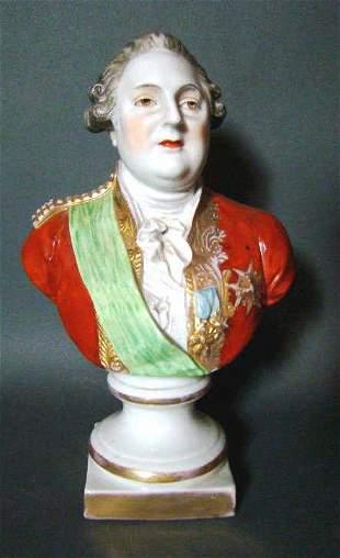 French Parc Louis XIV Antique Bust
