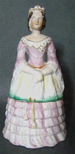 Antique Staffordshire Figural Dresser Jar