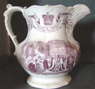 William & Adelaide Coronation Jug 1831