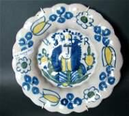Antique Delft Plate William of Orange