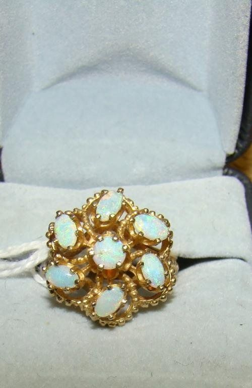 14k and Opals Ring