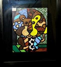 """Romero Britto """"Lion King"""" Commissioned Artwork"""