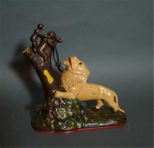Lion and Monkey Mechanical Bank