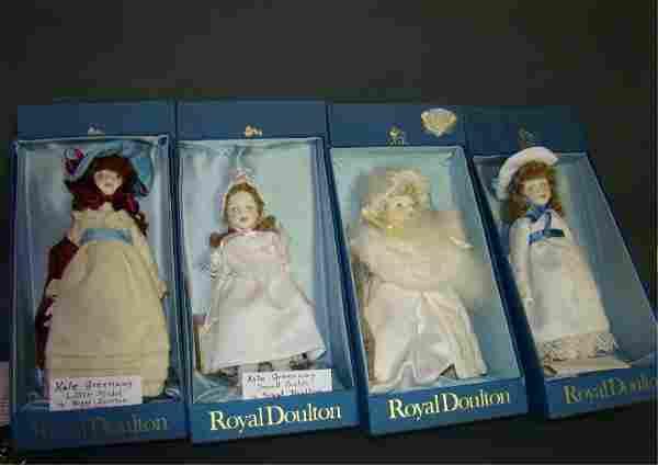 Lot of 4 Porcelain Royal Doulton Dolls
