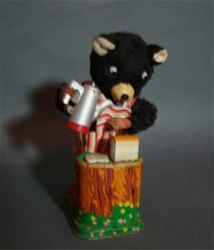 Tin Litho Battery Operated Bear