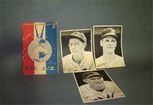 Official 1942 Red Sox Score Card