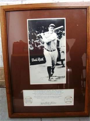 Babe Ruth Commemorative Photo 486/714
