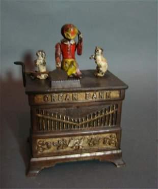 Organ Grinder Mechanical Bank