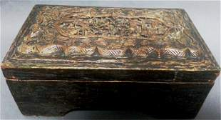 Chinese Carved Lidded Box