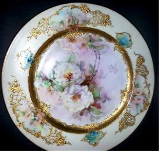Signed Limoges Gilded Hand Painted Plate