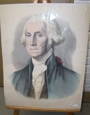 Lithograph Washington Portrait by Stuart