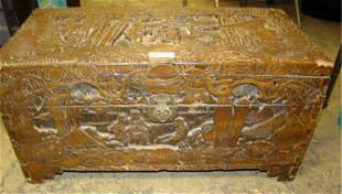 Ornate Carved Oriental Chest