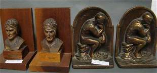 Lot of 2 Pairs of Bookends