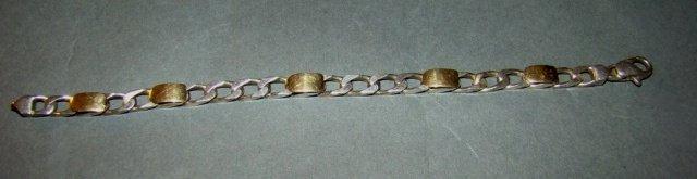 Tiffany & Co 18k Gold and Sterling Silver Bracelet