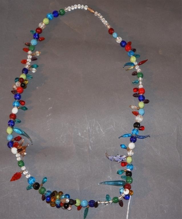 Art Deco Venetian Glass Necklace 1940
