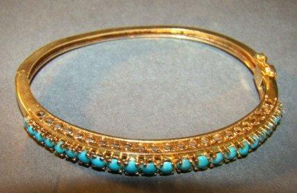 14k Gold and Turquoise Bracelet