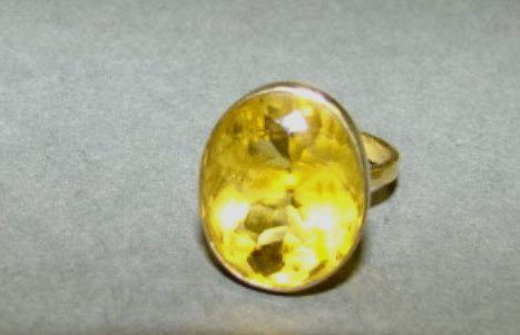 18k Gold and Large Citrine Ring