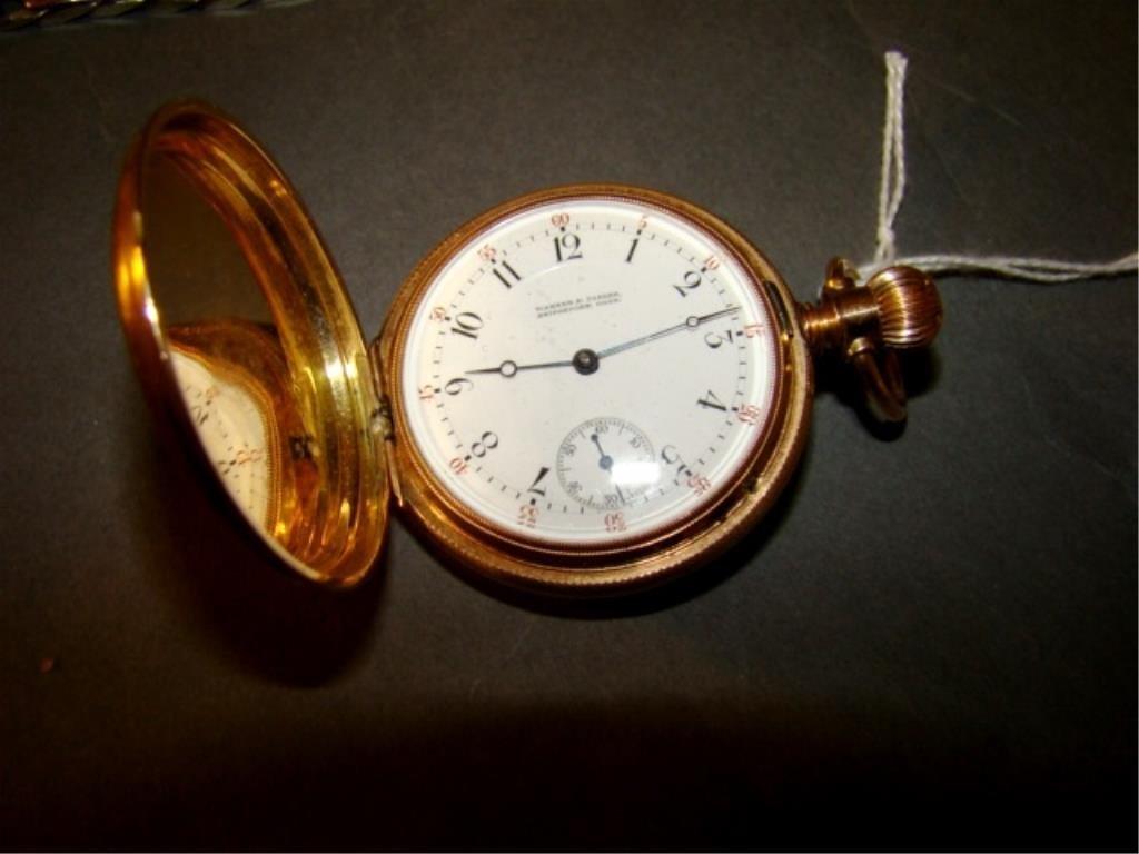 14K Gold  Victorian Pocket Watch Warner and Parker
