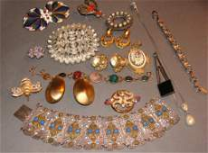 Vintage Costume Jewelry Lot Haskell Kramer