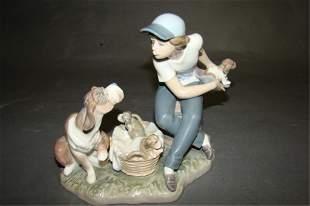 Boy Holding Puppy Dog