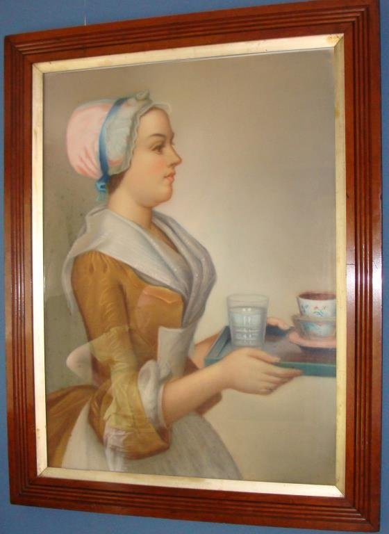 Large Pastel of The Baker Chocolate Girl, 19c