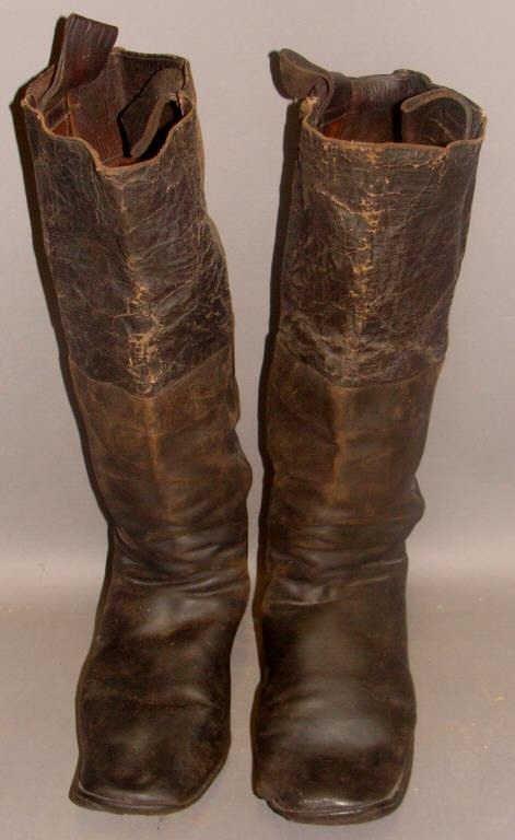 Pair of Civil War Boots, 19c