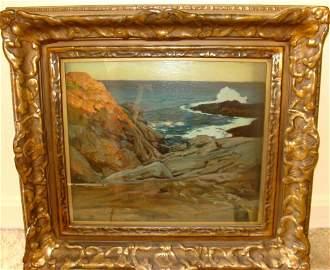 Oil on Canvas  Mohegan Island, Frederick Judd  Waugh