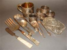 Mixed Sterling and Silver Plate Lot