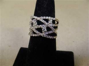 4K White Gold and Diamond Ring