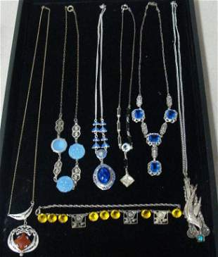 Grouping of Vintage Art Deco and Czech Necklaces
