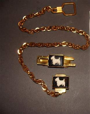 Men's Watch Fob / Money Clip Bakelite Scotty Dog