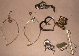Contemporary Sterling Jewelry Lot