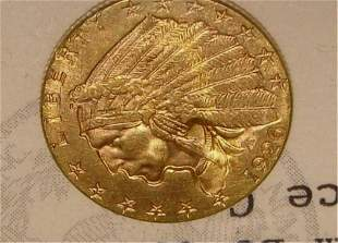 1926 Liberty Indian Head 2. 5 Dollar Gold Coin