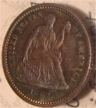 1862 Half Dime Coin