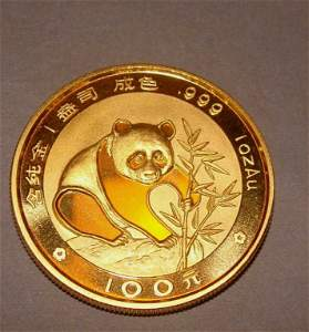 1988 Chinese Gold Panda 1 oz Coin