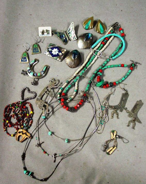 Sterling, Turquoise Native American & Mexican Jewelry