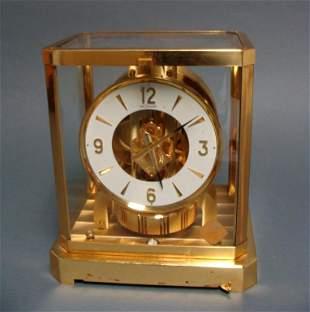 Vintage Jaeger LeCoultre Atmos Brass Swiss Mantel Clock
