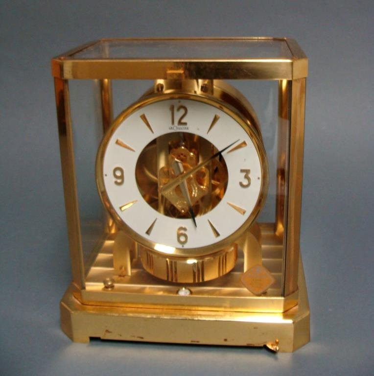 Vintage Jaeger LeCoultre Atmos Brass Swiss Mantel Clock