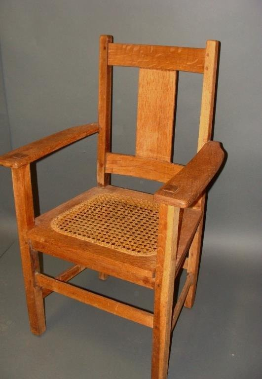 Charles Limbert Arts and Crafts Mission Era Oak Chair
