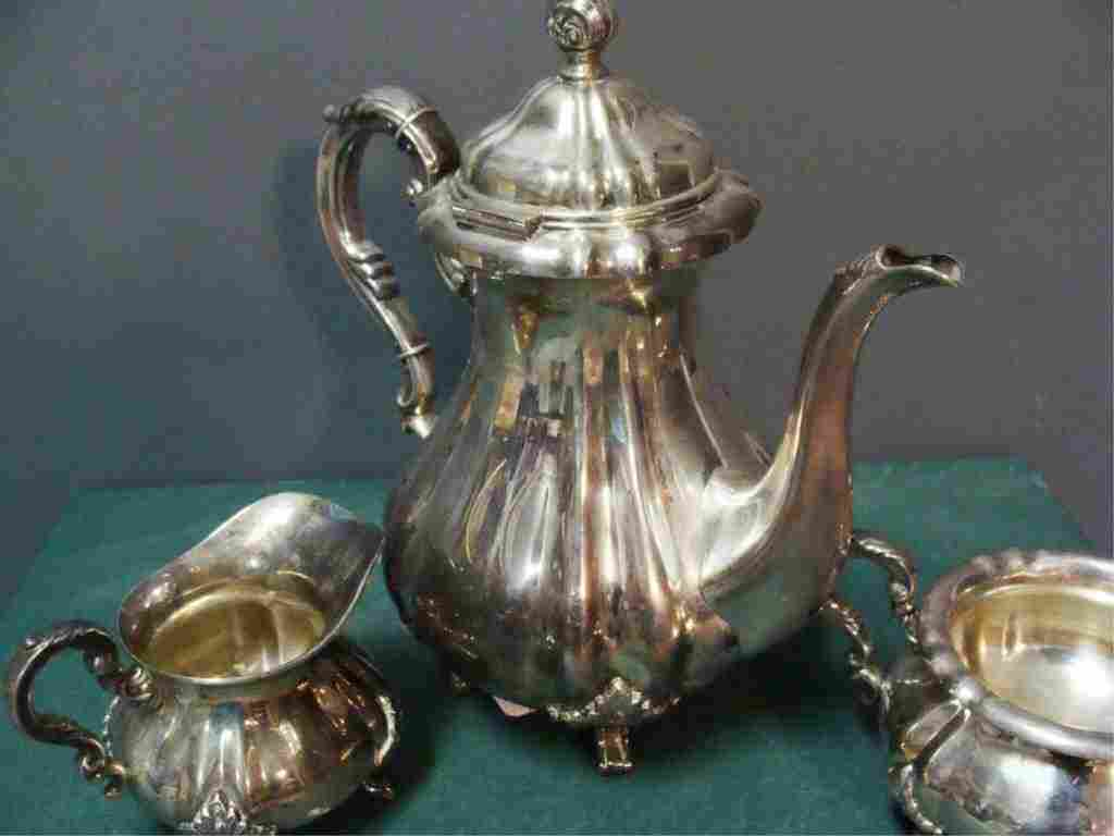 Antique Sterling Silver 3 pc. Tea Set / Coffee Service