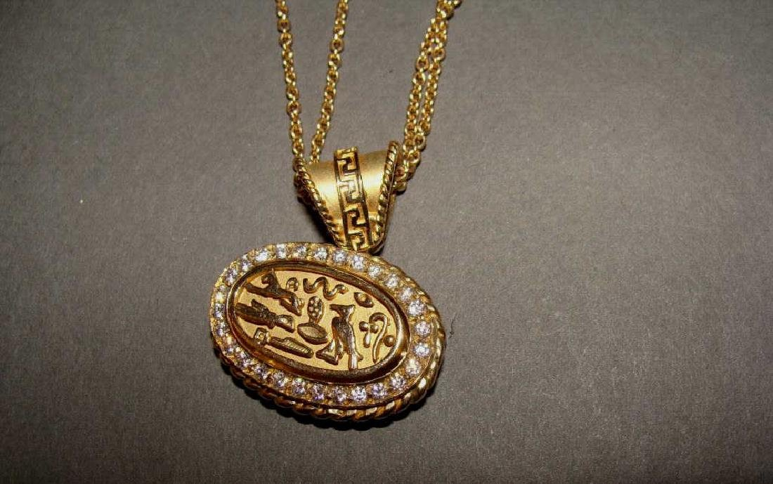 14kt Gold Double Chain & 18kt Gold & Diamond